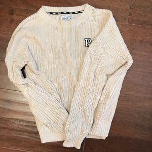 Cream Victoria Secrets Pink sweater